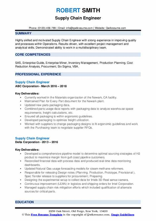 supply chain engineer resume samples qwikresume pdf should you put an objective on acting Resume Supply Chain Engineer Resume