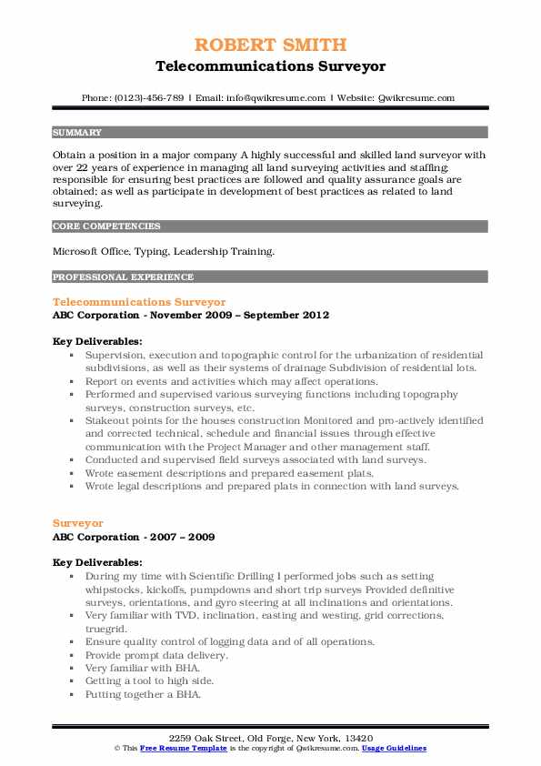 surveyor resume samples qwikresume telephone pdf strong objective statements erp sample Resume Telephone Surveyor Resume