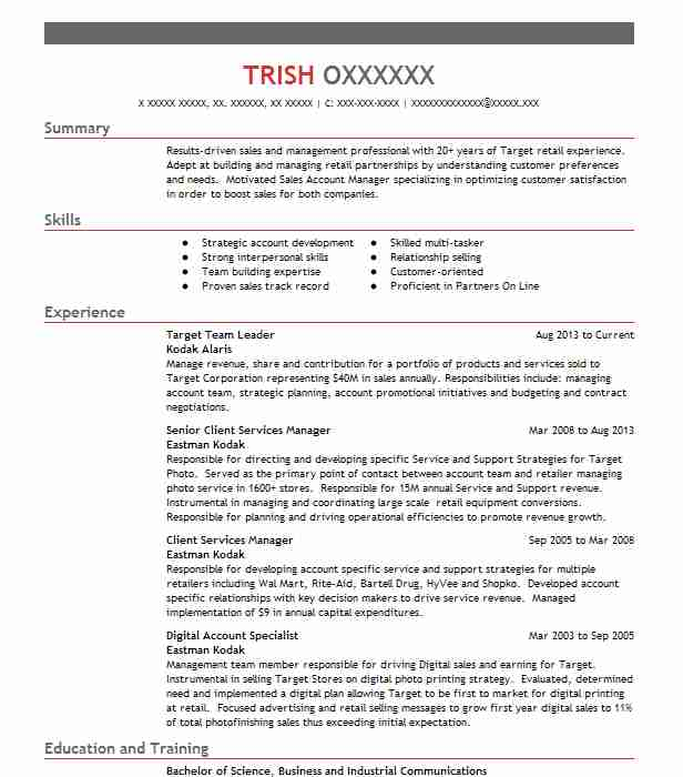 target team leader resume example resumes livecareer targeted template objective for Resume Targeted Resume Template