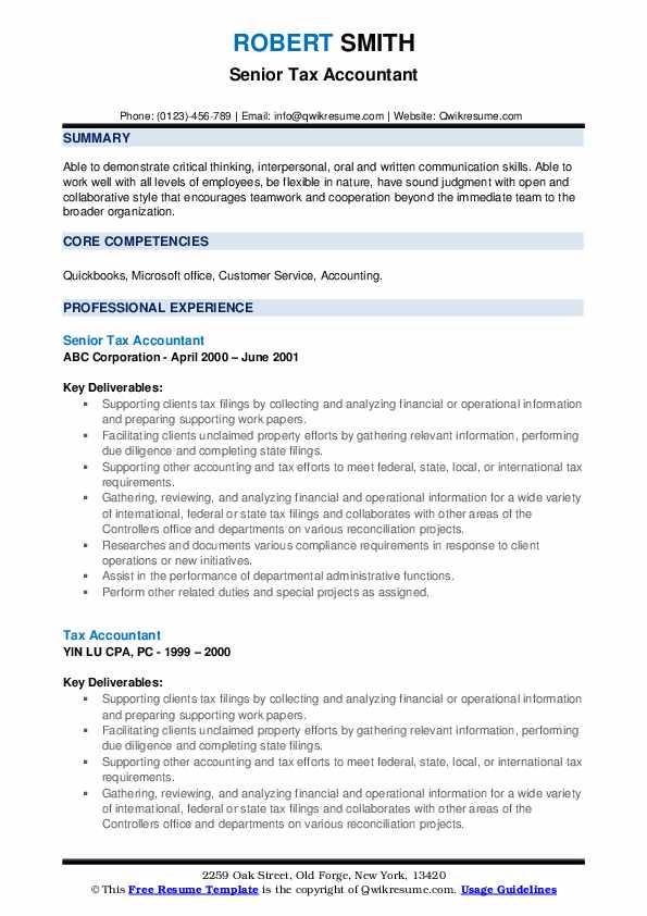 tax accountant resume samples qwikresume core competencies for accounting pdf sample web Resume Core Competencies For Accounting Resume