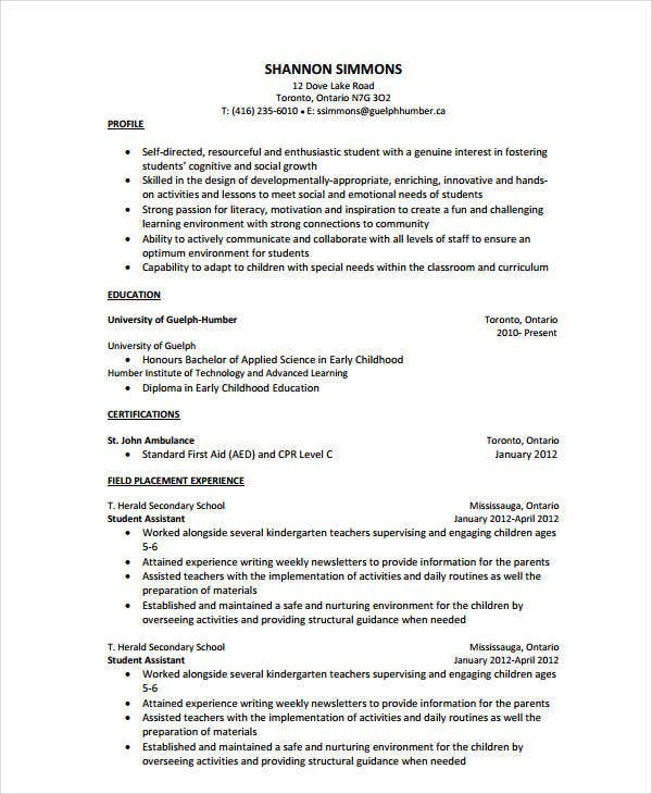 teacher assistant resume templates pdf free premium kindergarten medical student event Resume Teacher Assistant Resume