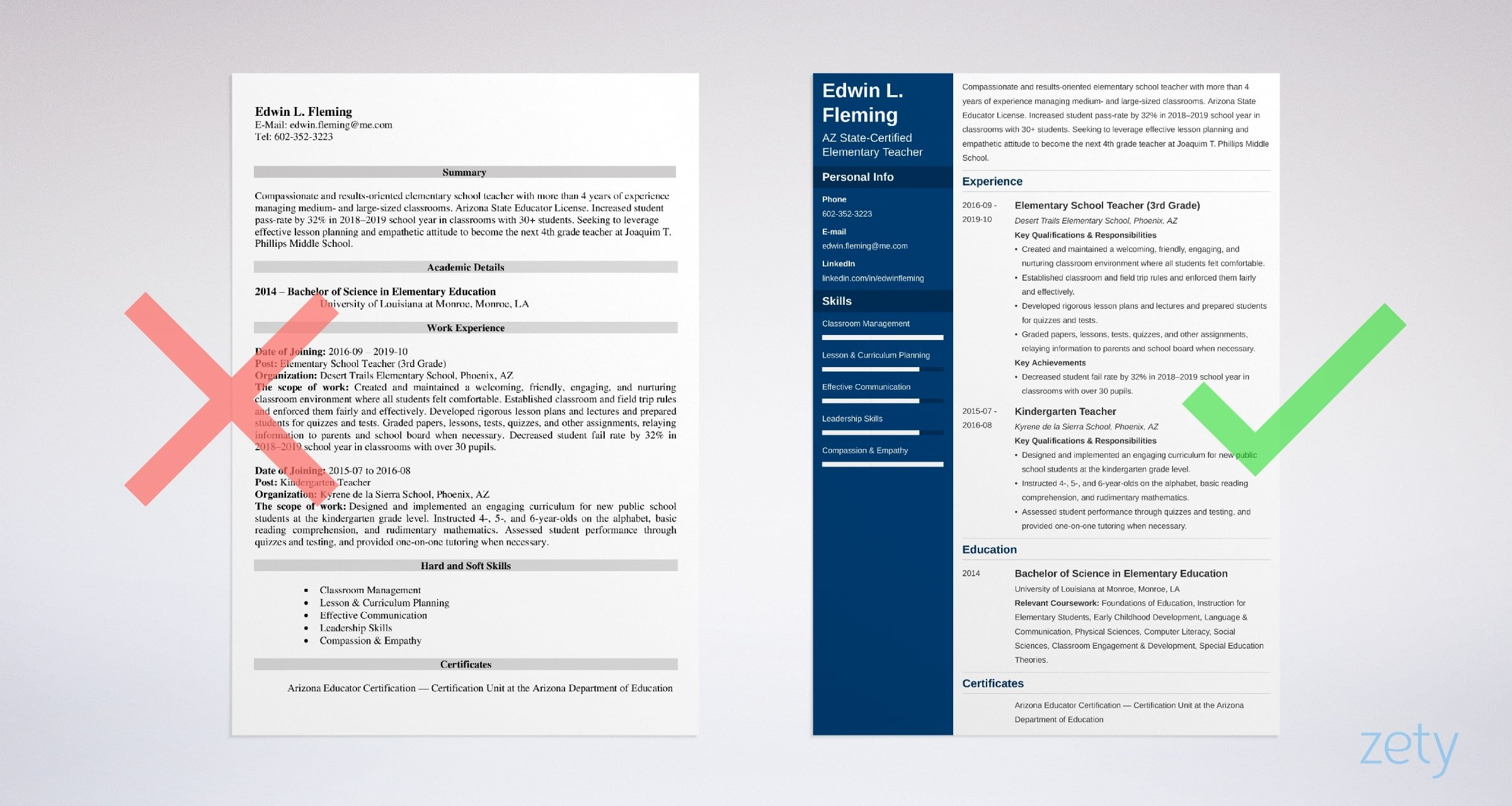 teacher resume examples templates skills tips first year professional design ideas Resume First Year Teacher Resume