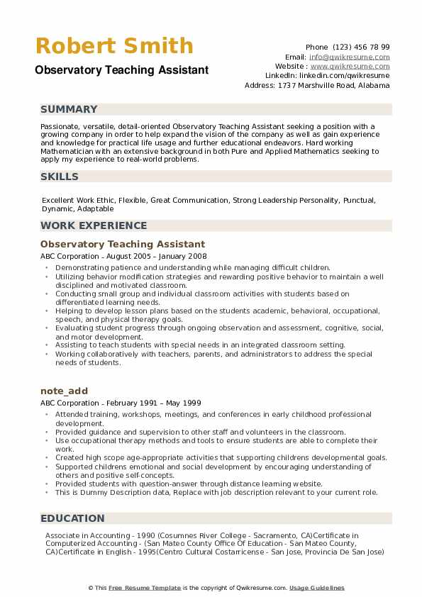 teaching assistant resume samples qwikresume teacher pdf sections beautiful templates Resume Teacher Assistant Resume