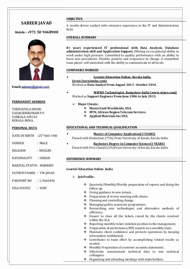 tech support engineer resume awesome it technician elegant sabeer yrs in supportive Resume Customer Support Engineer Resume
