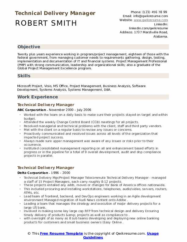 technical delivery manager resume samples qwikresume software sample pdf creating good Resume Software Delivery Manager Resume Sample