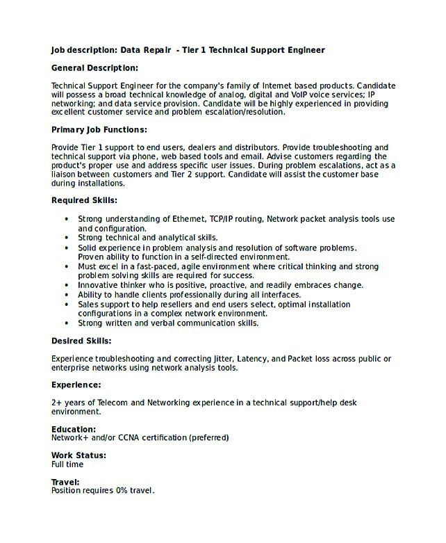 technical support engineer resume good teachers format writing is not that easy when it Resume Customer Support Engineer Resume