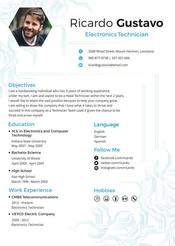technician resume template free word pdf documents premium templates it supports samples Resume It Supports Technician Resume Samples