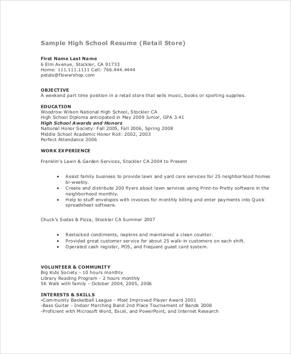 teenage resume samples format first time template by nursing informatics example get Resume First Time Resume Template