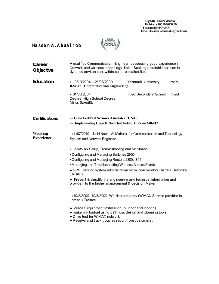 telecom engineer cv network field resume psw qualifications pest control objective Resume Network Field Engineer Resume