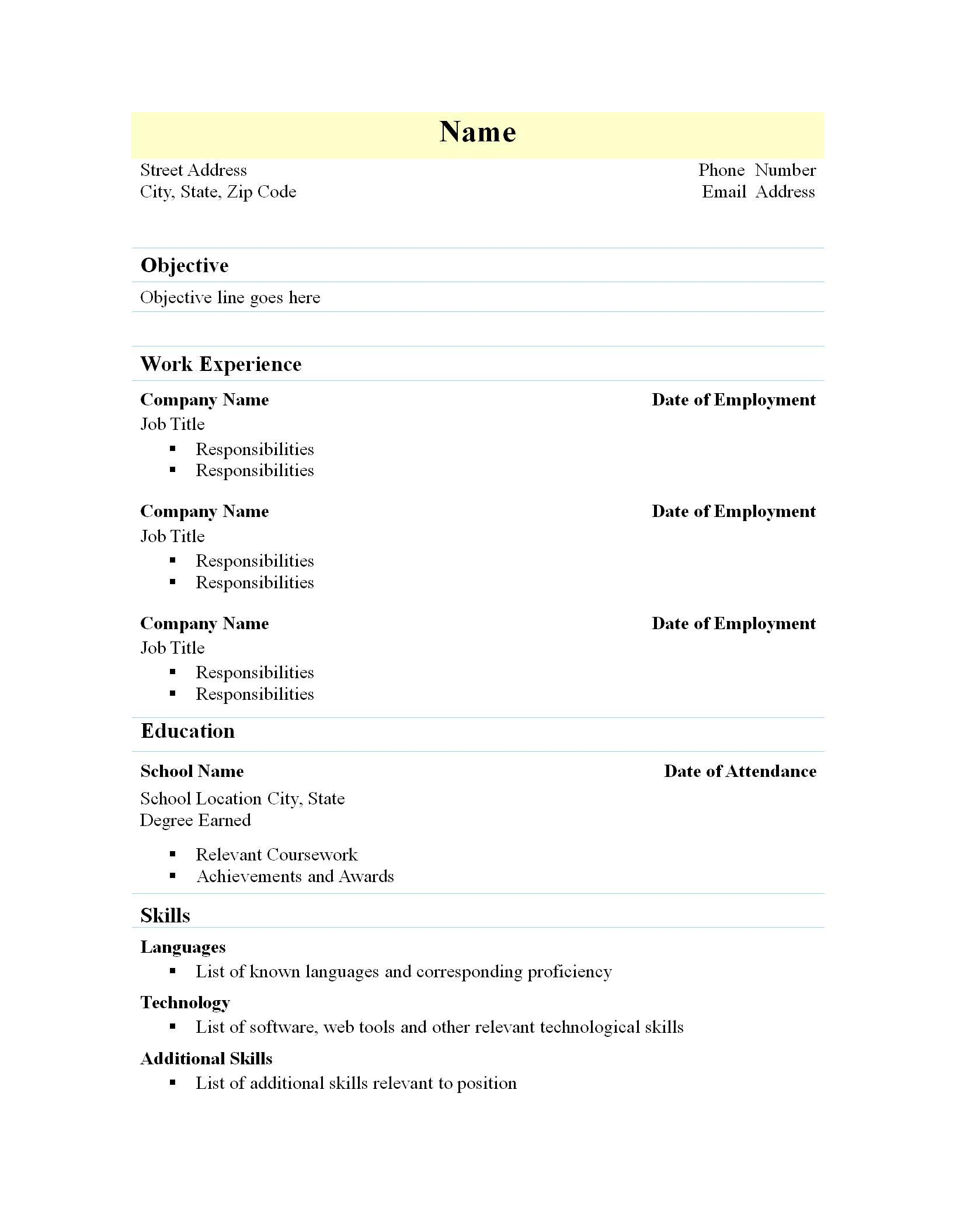 template free writer presentation spreadsheet templates simple resume format for freshers Resume Free Download Simple Resume Format For Freshers