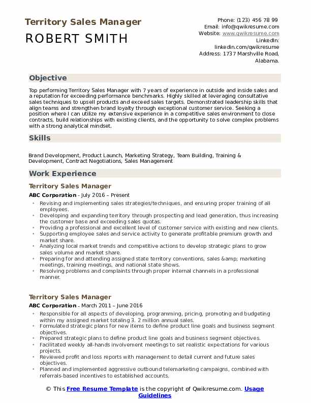 territory manager resume samples qwikresume template pdf proofreader modern examples Resume Sales Manager Resume Template