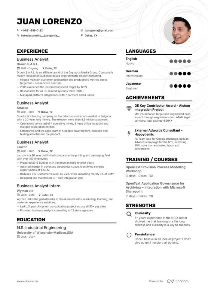the best business analyst resume examples skills to get you hired sample for freshers Resume Resume Examples To Get You Hired