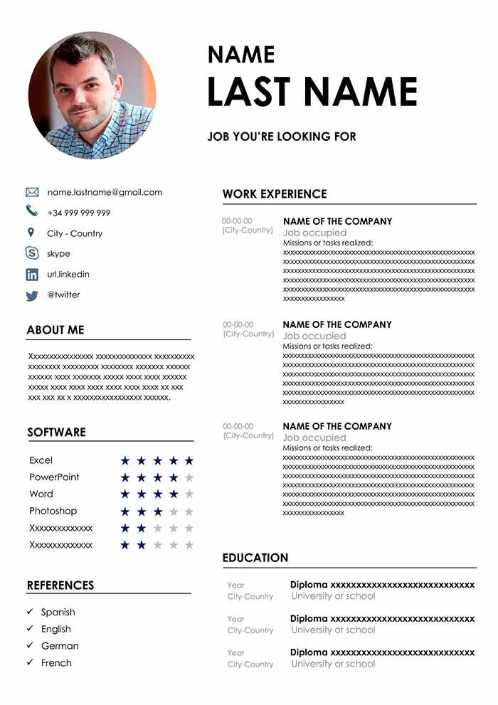 the best cv format free template for word resume new computer operator sample evaluation Resume Best New Resume Format