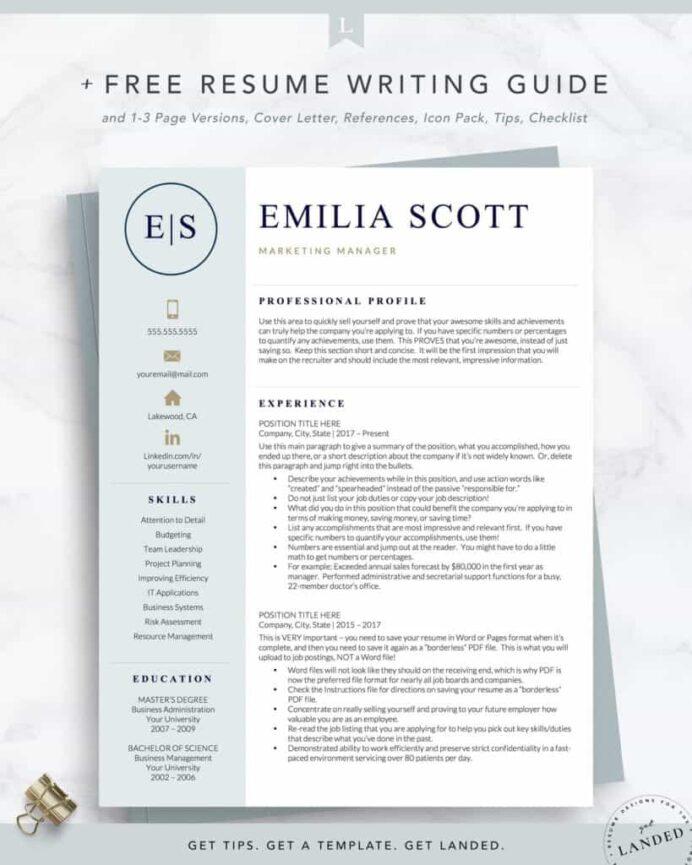the best resume examples that get you hired in format rnresumetemplate2 1400x 819x1024 Resume 2020 Best Resume Format