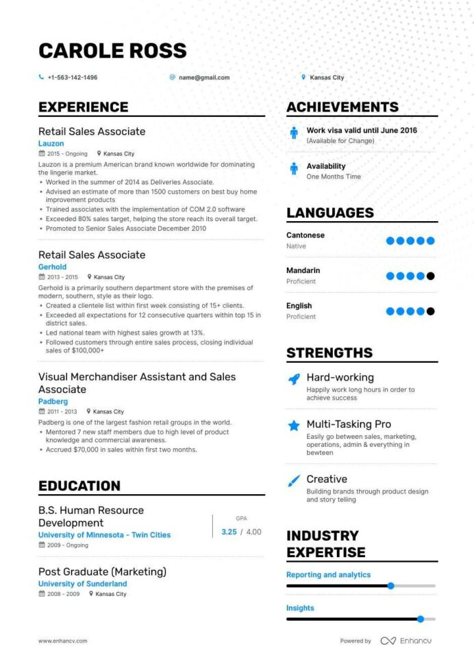 the best retail associate resume examples skills to get you hired availability example Resume Resume Examples To Get You Hired