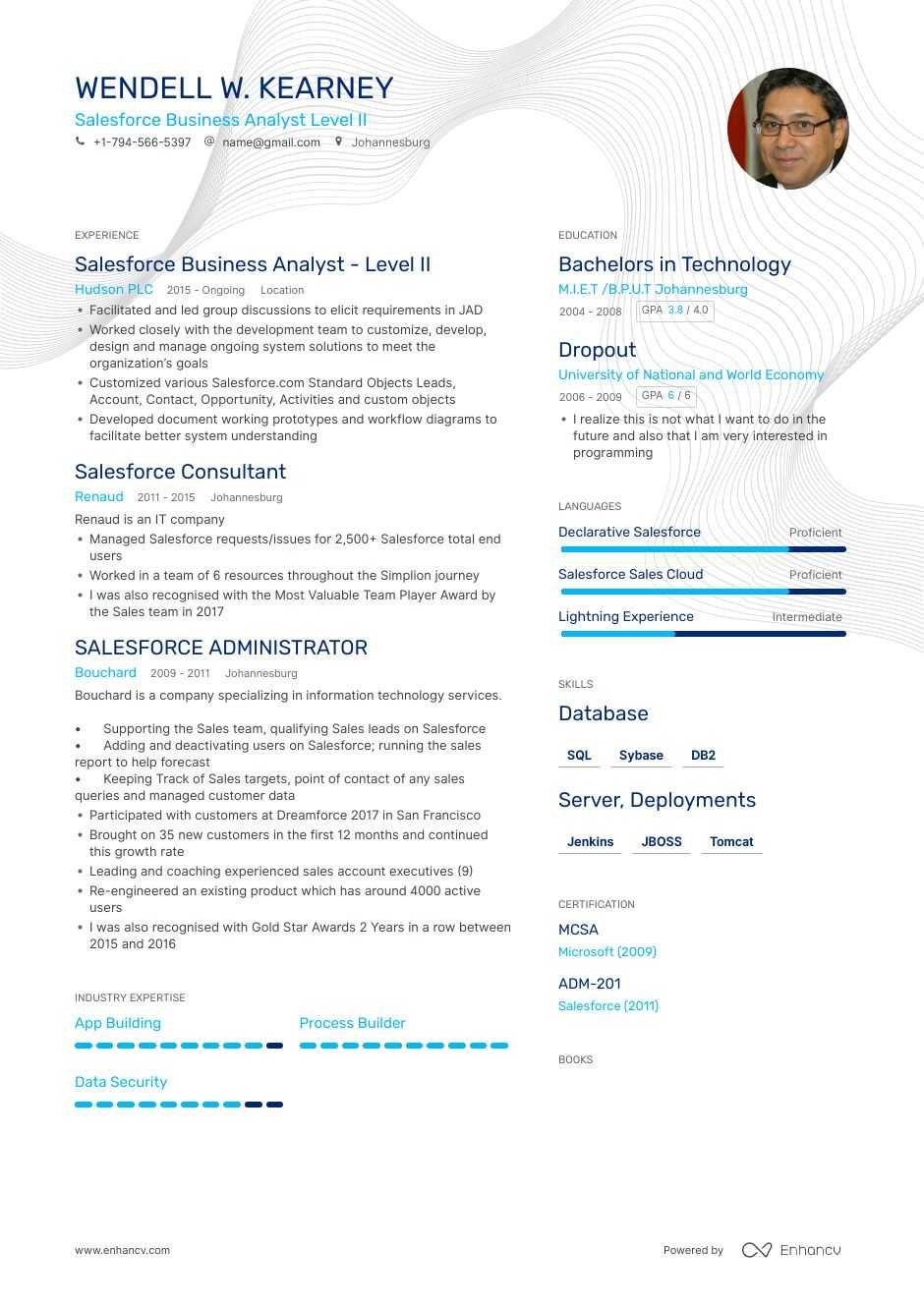 the best salesforce business analyst resume examples skills to get you hired commerce Resume Salesforce Commerce Cloud Developer Resume