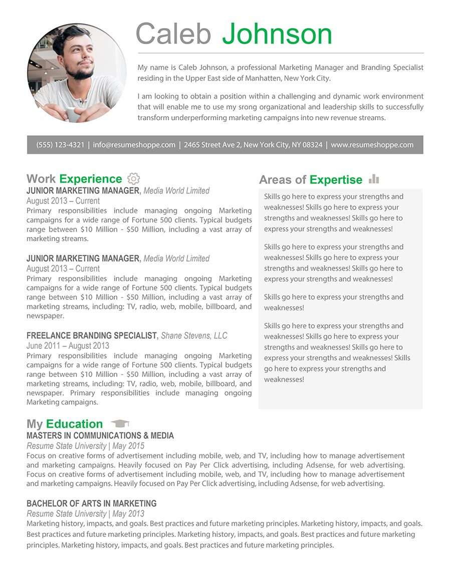 the caleb resume marketing job examples professional personal achievements section Resume Personal Marketing Resume