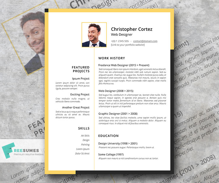 the freelancer resume creative template for independent workers freesumes freelance Resume Freelance Resume Example