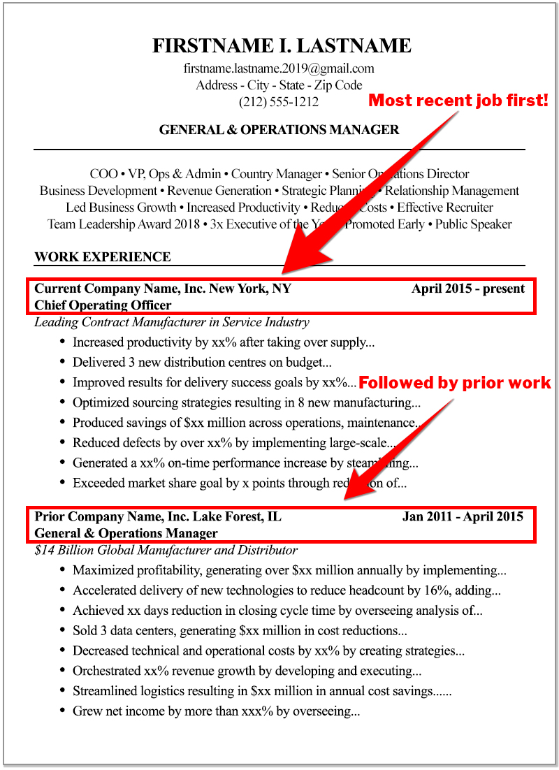 the high score resume format to write for best tips most recent jobs production manager Resume Best Resume Tips 2020