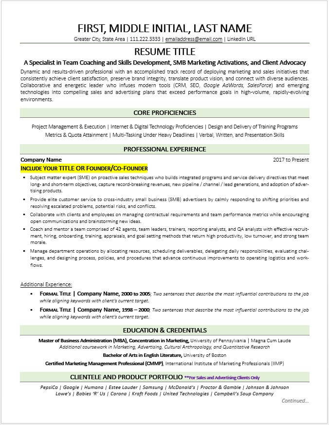 the most business owner resume sample template small job cute766 former example Resume Former Business Owner Resume
