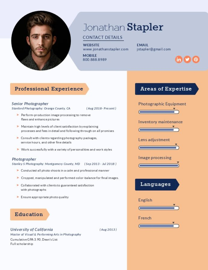 this website uses cookies to improve the user experience by using our you consent all in Resume Photography Resume For Beginners