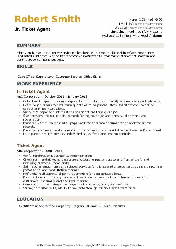 ticket agent resume samples qwikresume ticketing executive pdf lille nantes importance of Resume Ticketing Executive Resume