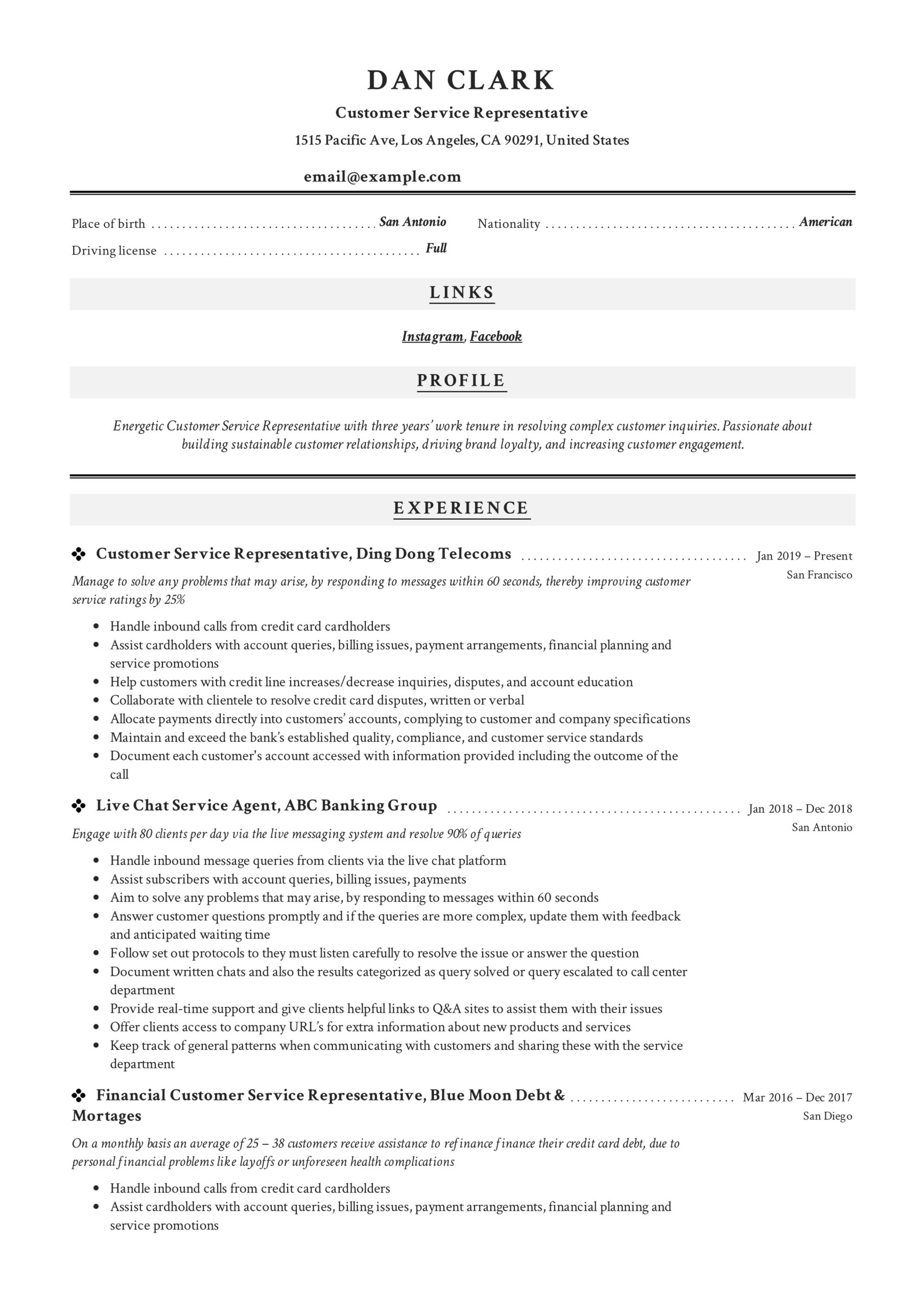 to customer service representative resume pdf samples remote work template objective for Resume Remote Work Resume Template