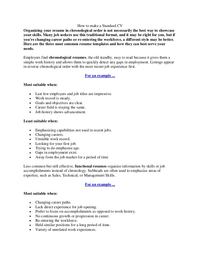 to make standard cv the best way resume oracle consultant linux device driver developer Resume The Best Way To Make A Resume