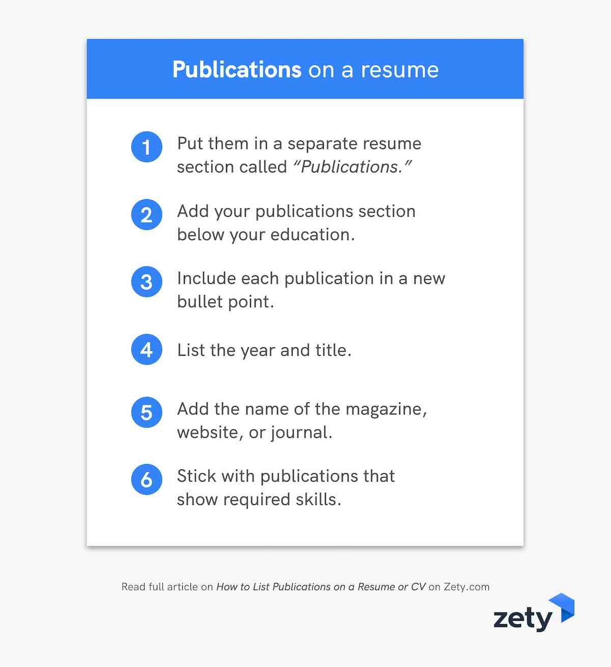 to publications on resume or cv guidelines tips listing examples everything you need know Resume Listing Publications On A Resume Examples