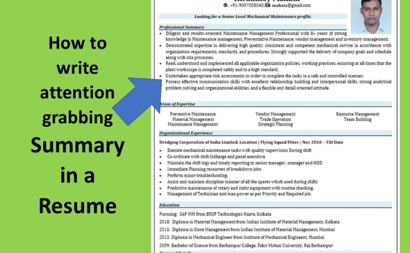 to write attention grabbing summary in resume smart services for ex servicemen indian Resume Resume For Ex Servicemen Indian Army