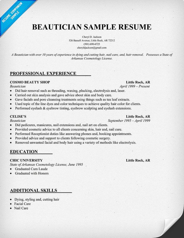 to write customer service resume or retail objective sample examples cosmetology example Resume Cosmetology Resume Example Recent Graduate