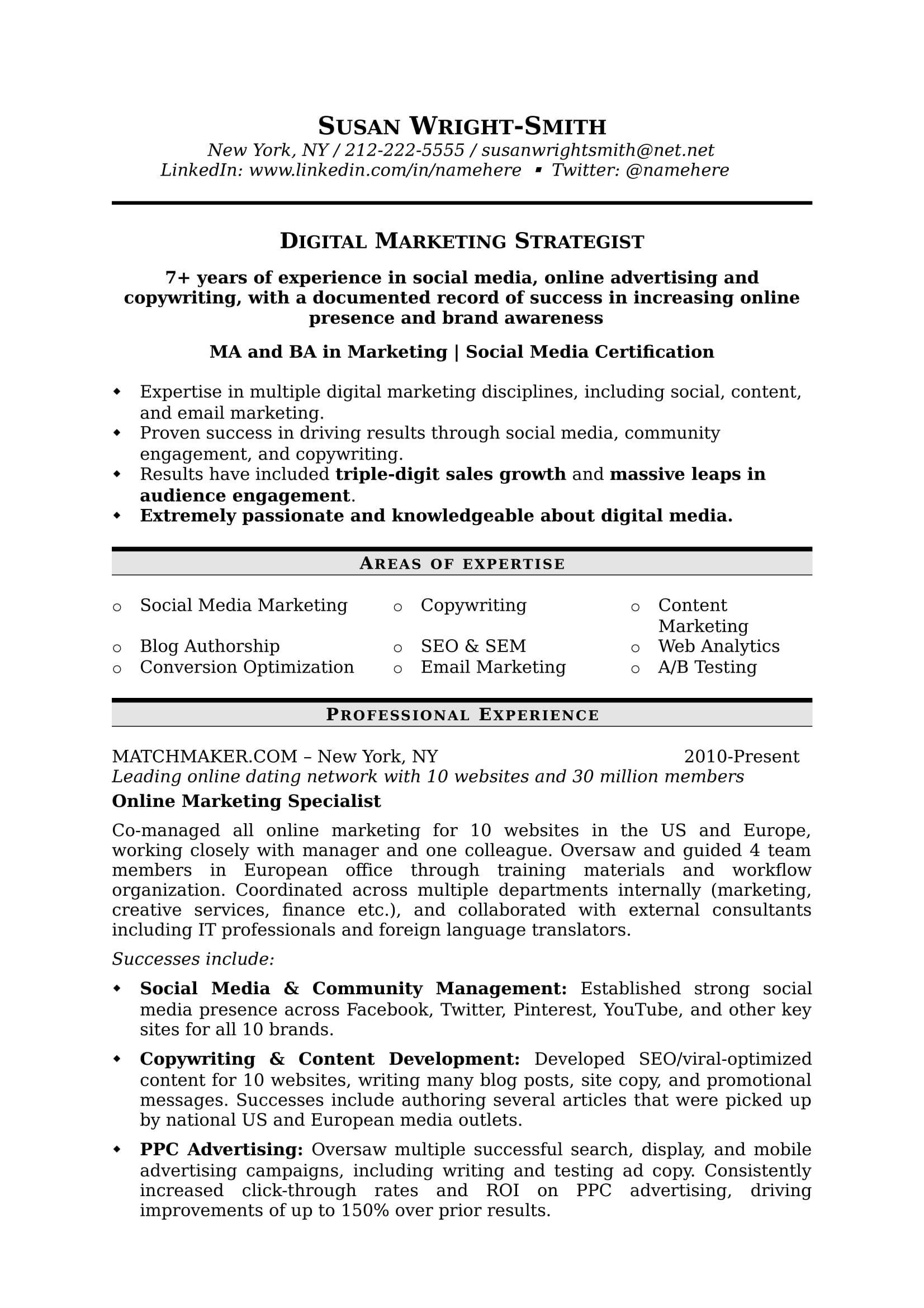 to write marketing resume hiring managers notice free templates samples examples digital Resume Marketing Resume Examples 2020