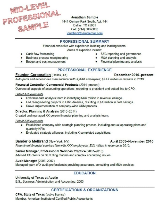 to write the perfect resume based on your years of experience an example for job Resume An Example Of A Resume For A Job