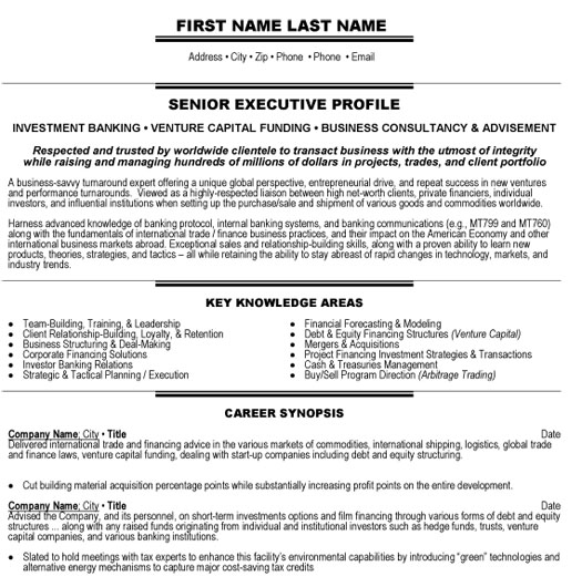 top banking resume templates samples investment tips executive sample accounting skills Resume Investment Banking Resume Tips