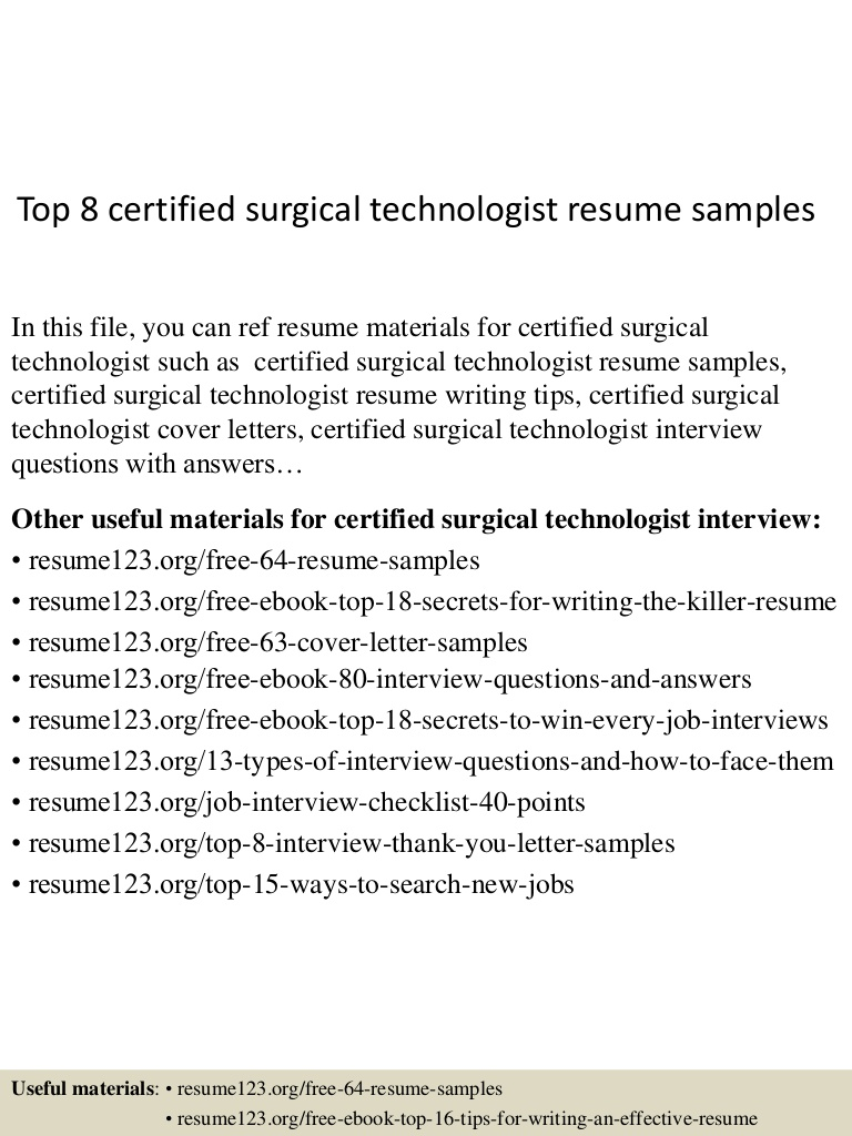 top certified surgical technologist resume samples free templates Resume Free Surgical Technologist Resume Templates