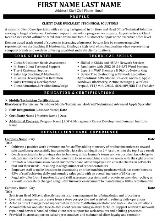top customer service resume templates samples writing client care specialist technical Resume Writing A Customer Service Resume