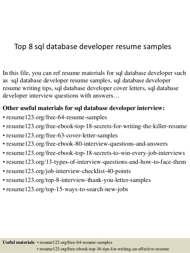 top database developer resume samples sample interior design examples flexibility entry Resume Database Developer Resume Sample