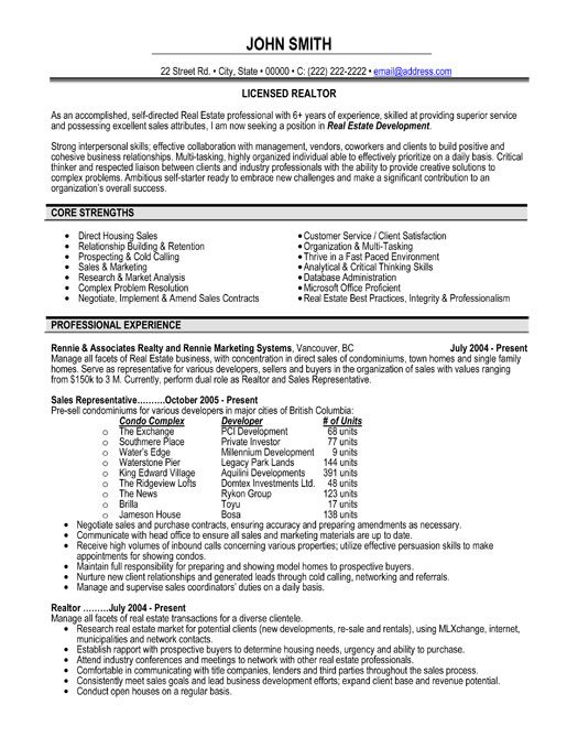 top estate resume templates samples template professional licensed realtor sample staples Resume Real Estate Resume Template