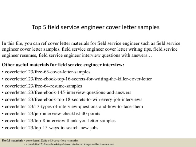 top field service engineer cover letter samples resume and contagion film communication Resume Resume And Cover Letter Service