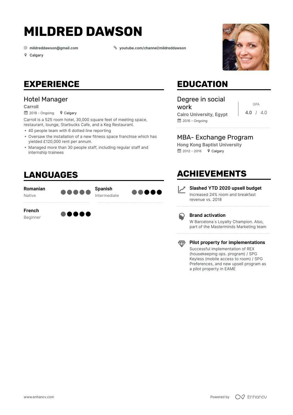 top hotel manager resume examples samples for enhancv skills free builder microsoft word Resume Hotel Manager Skills Resume