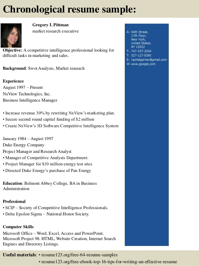 top market research executive resume samples and cover letter services toronto your Resume Research Executive Resume