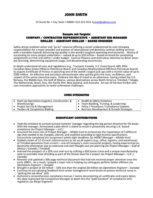 top oil gas resume templates samples og executive rig manager sample p1 adobe template Resume Oil & Gas Resume Samples