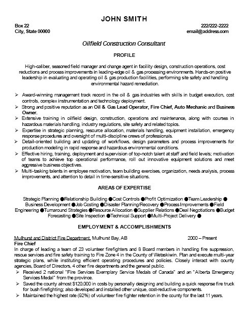 top oil gas resume templates samples og professional oilfield construction consultant Resume Oil & Gas Resume Samples