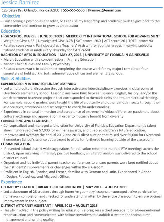 top resume examples for international students studying in the us exchange student sample Resume Exchange Student Resume Sample