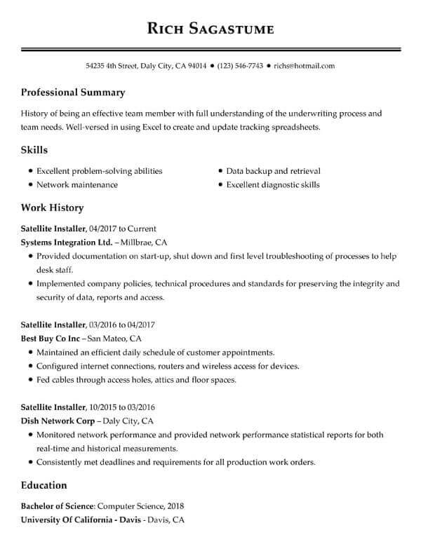 top resume objectives examples myperfect summary for customer service satellite tv Resume Summary For Resume