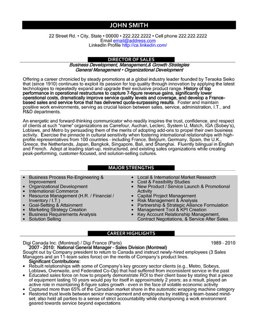 top resume templates samples best for professionals executive director sample personal Resume Best Resume Templates For Sales Professionals