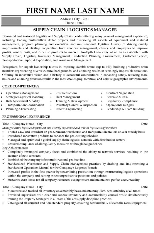 top supply chain resume templates samples skills for student logistics management sample Resume Supply Chain Engineer Resume