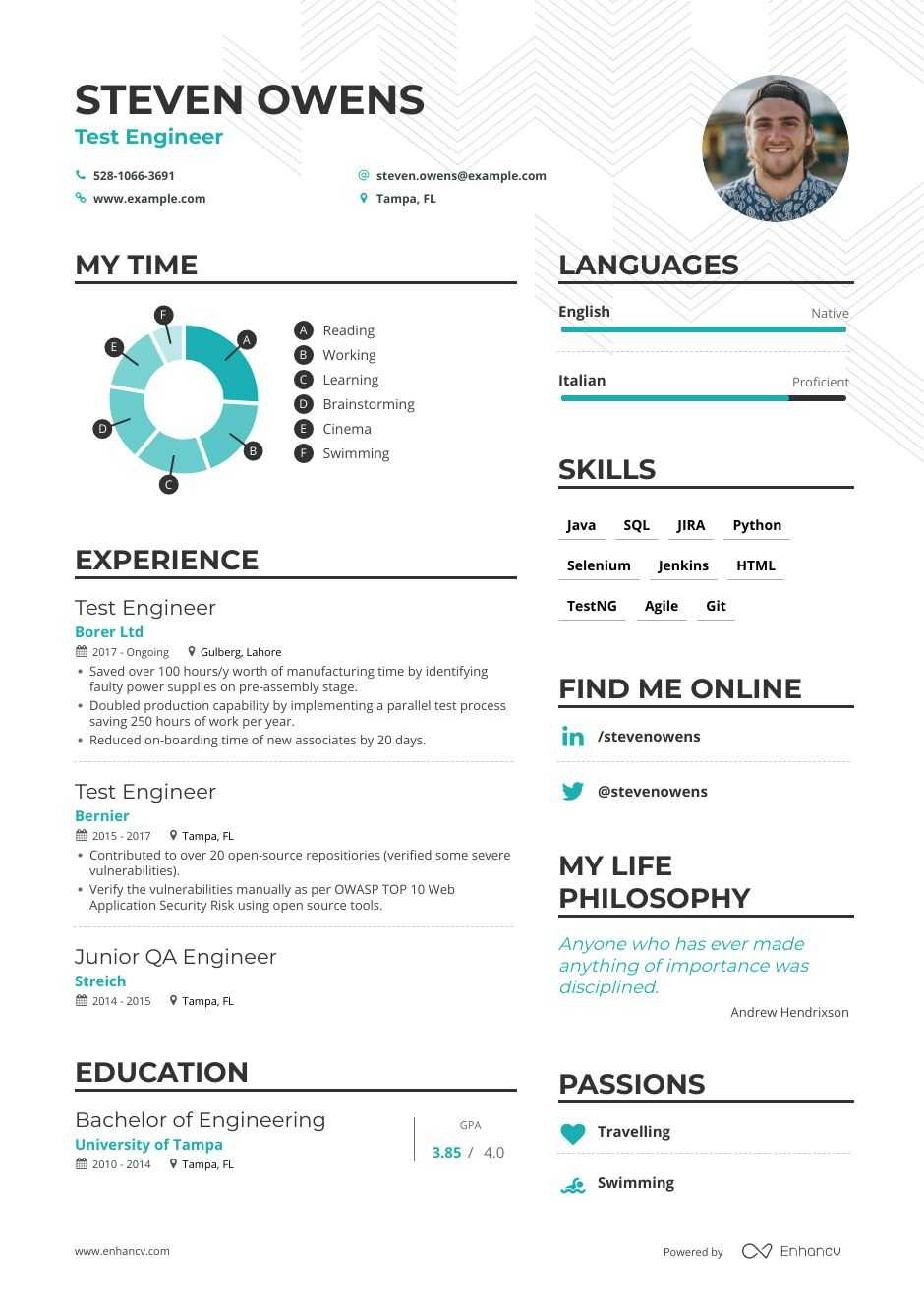 top test engineer resume examples expert tips enhancv automation tester most effective Resume Automation Tester Resume