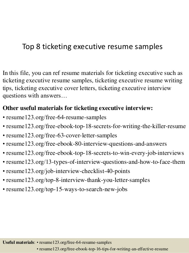 top ticketing executive resume samples best communication skills for semiconductor Resume Ticketing Executive Resume