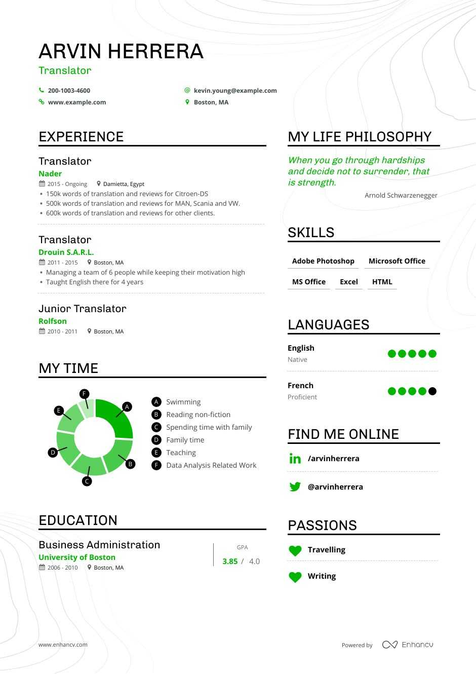 translator resume examples guide pro tips enhancv for job suggestions skills modern Resume Resume For Translator Job